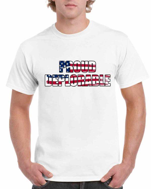 Proud Deplorable Tshirt Basket of Deplorables t shirt Trump 2016 Make America Great Again T-Shirt Adult Unisex